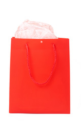 Red gift bag for Valentines
