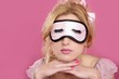 sleep mask blind blonderelaxed on pink