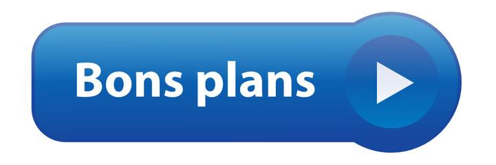 Bouton Web BONS PLANS (conseils bonnes affaires offres soldes)