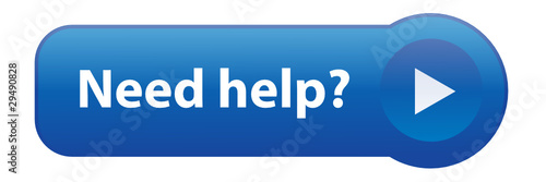 """""""NEED HELP?"""" Web Button (support customer service assistance)"""