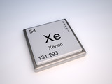 Xenon chemical element of the periodic table with symbol Xe poster