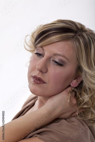 Portrait of a young woman with blonde hair #4