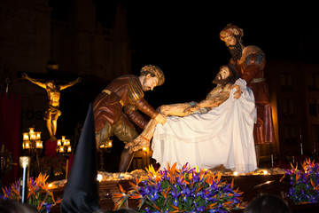 Cristo de la Cruz a María. Holy Week in Valladolid, Spain