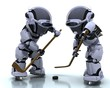 Robots playing icehockey
