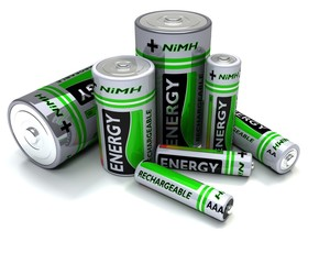 Various sized NiMH Batteries