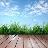 Fototapety wooden terrace and blue sky