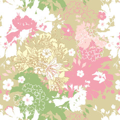 Spring seamless decorative pastel background.