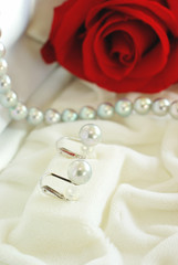 真珠のイヤリング