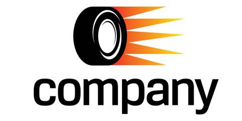 Fast car wheel logo
