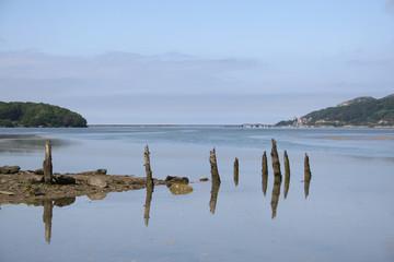 Estuary of River Mawddach near Barmouth in North Wales