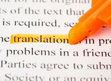 Fototapety translation word