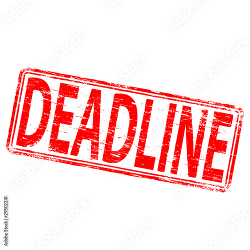 "Rubber stamp illustration showing ""DEADLINE"" text"