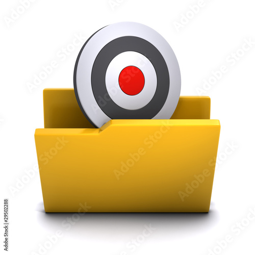 3d Folder containing target