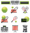 Vector tennis icon set