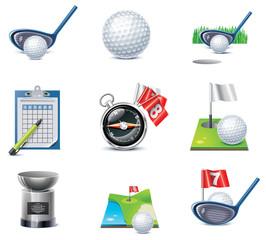Vector golf icon set