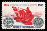 USA vintage postage stamp Battle of New Orleans
