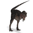 Dinosaur Tarbosaurus. 3D rendering with clipping path and