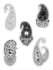 indian paisley motifs