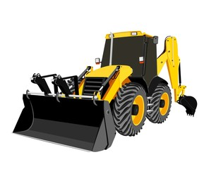 earth-moving bulldozer vector