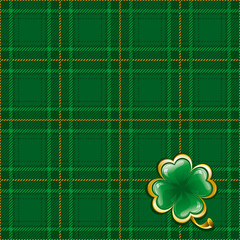 Tartan background to St. Patrick's Day