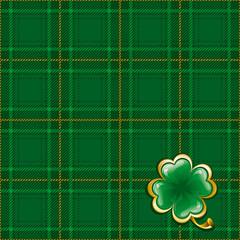 Tartan background to St. Patrick's Day