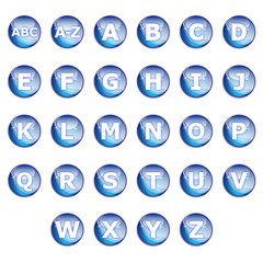 Collection alphabet pictos glossy icons web 2.0