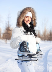 girl going to ice skate