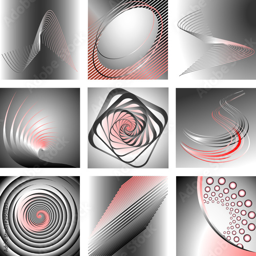 Abstract designs set.