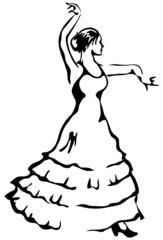 Flamenco dancer. Vector illustration.