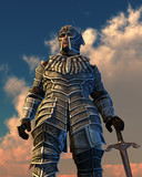Celestial Knight - 3D render poster