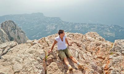Boy on the rock