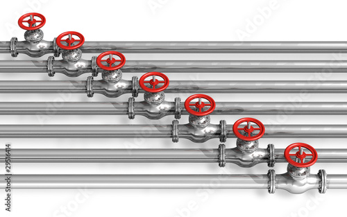 Pipeline with valves - 29516414