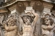 Three satyrs on the Wallpavillion of Zwinger Palace, Dresden