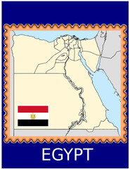 Egypt national emblem map coat flag business background