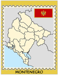 Montenegro national emblem map coat flag business background