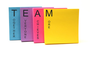 TEAM Concept Sticky Notes