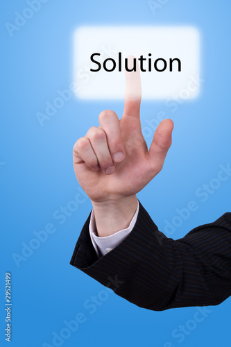 hand push on solution button