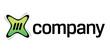 Modern online digital content company logo