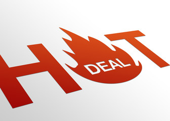 Perspective Hot Deal Sign