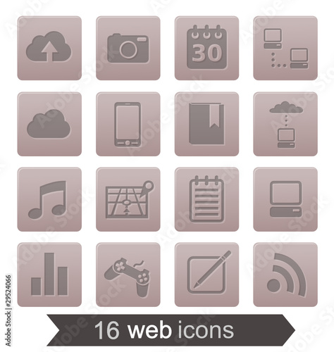16 web icons v2 (grey)