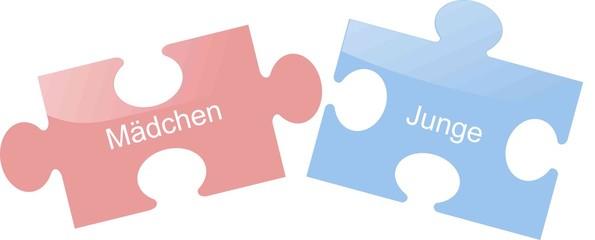 Junge Mädchen Puzzle