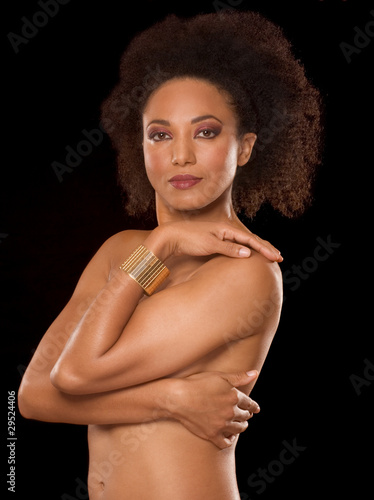 Multiracial beauty, ethnic black and Spanish mix