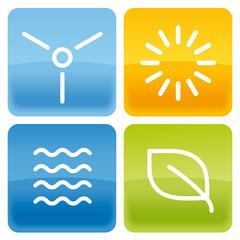 4 Buttons Erneuerbare Energien