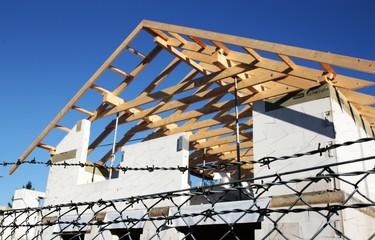 Dachstuhl von Neubau