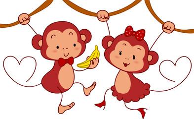 Monkey Couple