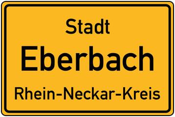 Ortstafel von Eberbach