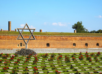 Graves in concentration camp Terezin (Theresienstadt).