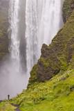 Skogafoss waterfall in Iceland poster