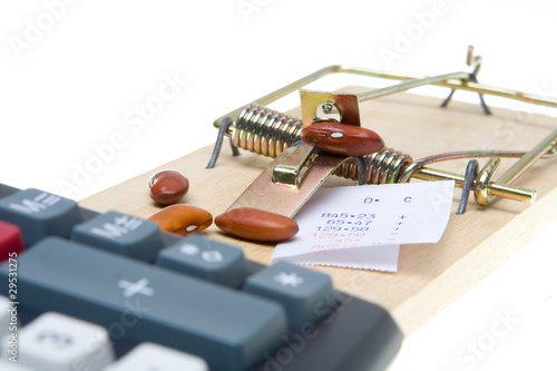 Adding Machine Mouse Trap Bean Counter Accounting