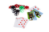 Bet the House Pile Poker Chips House Playing Cards poster